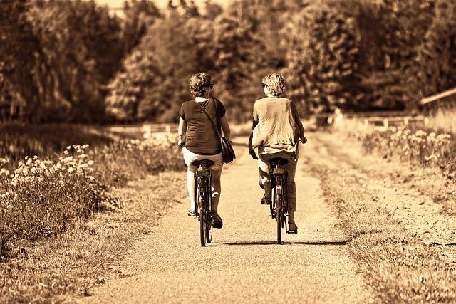 dvě cyklistky