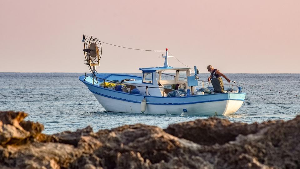 rybaření na lodi