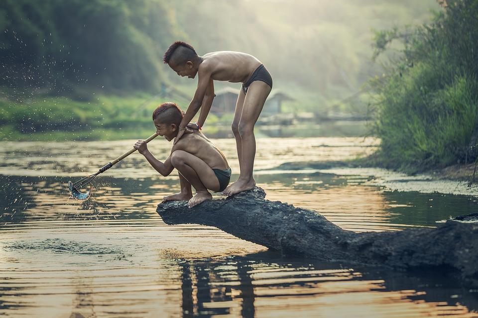 rybaření u břehu